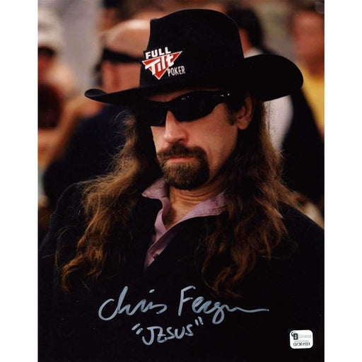 Chris Ferguson Poker Pro Autographed 8X10 Photo GAI Certified 931