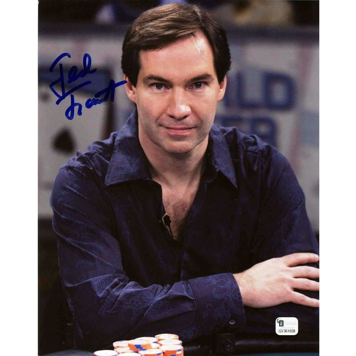 Ted Forrest Poker Pro Autographed 8X10 Photo GAI Certified 938