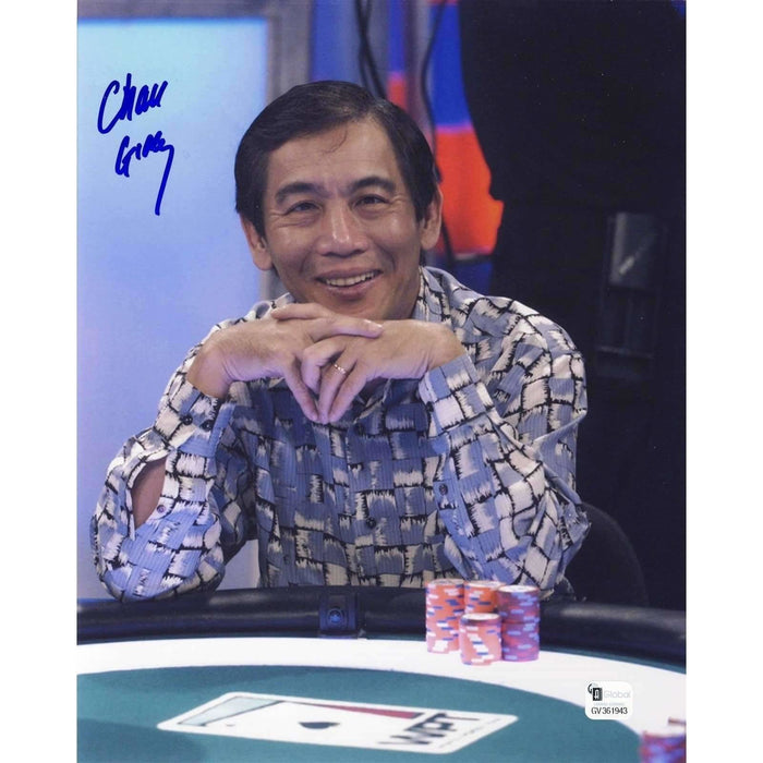 Chau Giang Poker Pro Autographed 8X10 Photo GAI Certified 943