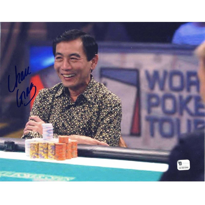 Chau Giang Poker Pro Autographed 8X10 Photo GAI Certified 944