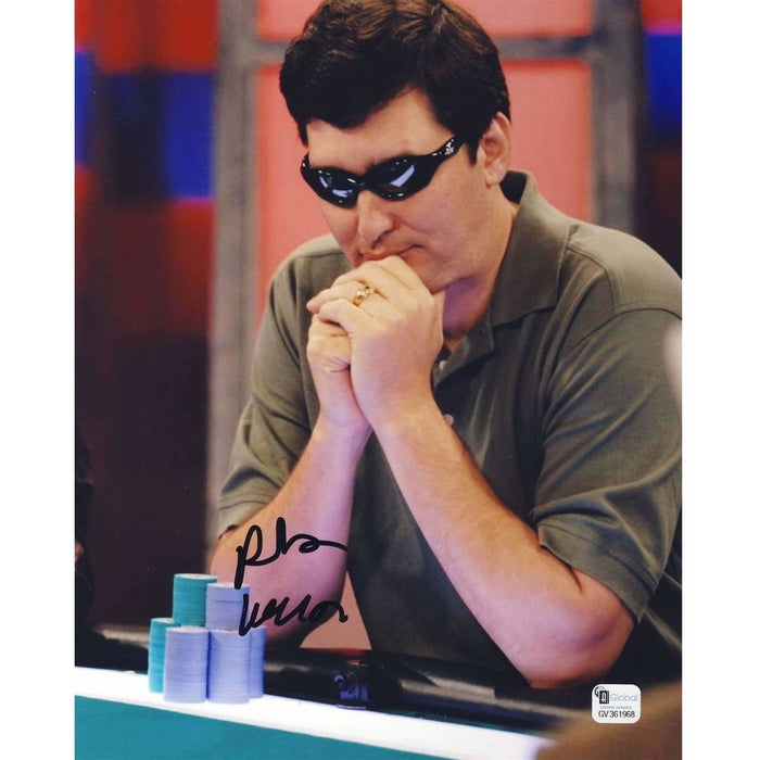 Phil Hellmuth Poker Pro Autographed 8X10 Photo GAI Certified 968
