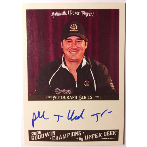 2009 Upper Deck Goodwin Champions #A-PH Phil Hellmuth  Autograph Poker Trading Card