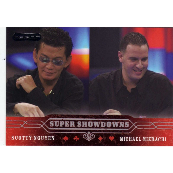 Scotty Nguyen/Mizrachi 2006 Razor Poker #51 Super Showdown Base Poker Trading Card