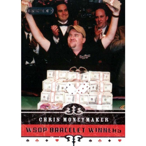 Chris Moneymaker 2006 Razor Poker #62 WSOP Bracelet Winners Base Poker Trading Card