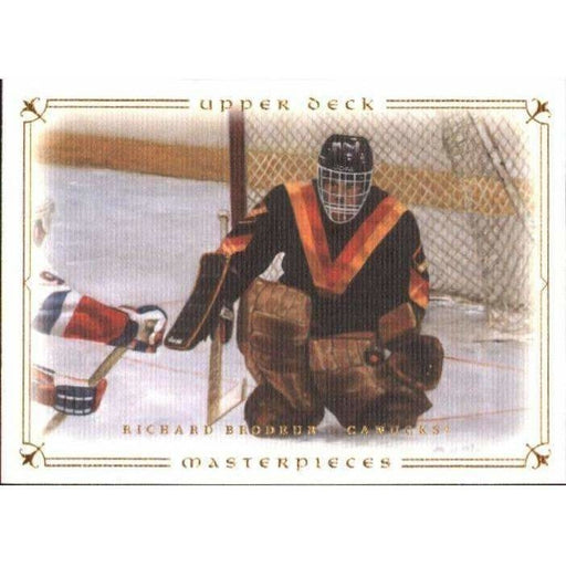 Richard Broudeur 2008-09 UD Masterpieces #09 Hockey Base Card