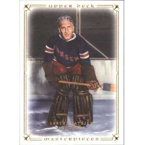 Lester Patrick 2008-09 UD Masterpieces #13 Hockey Base Card