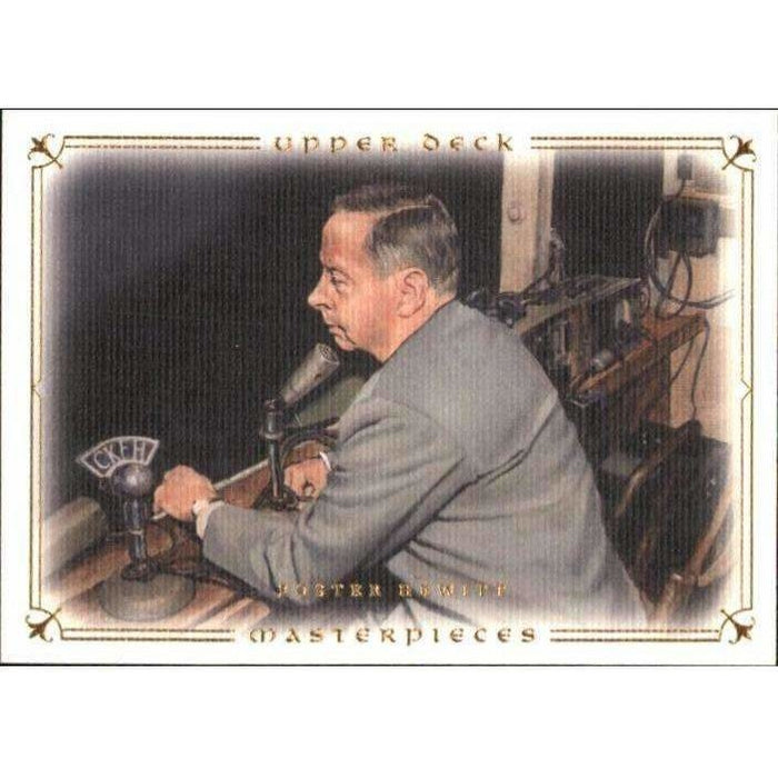 Foster Hewitt 2008-09 UD Masterpieces #37 Hockey Base Card