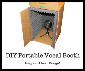 DIY Isolation Vocal Booth For Home Studio & Recording On The Go