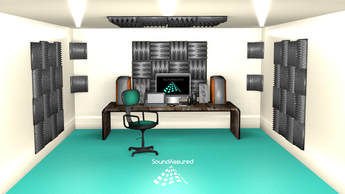 Listening Room / Mastering Room Acoustic Foam Layout (Design # 1)