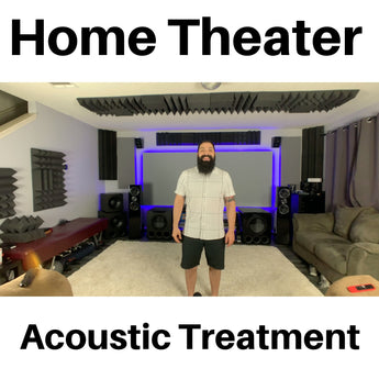 Home Theater Acoustic Treatment With Dolby Atmos Speakers