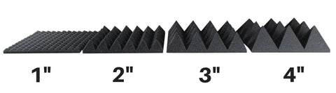 pyramid acoustic foam panels for studio soundproofing