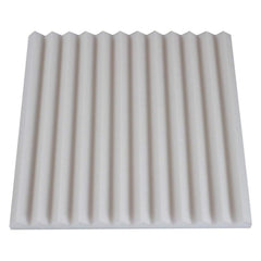 1 inch thick white acoustic foam panel