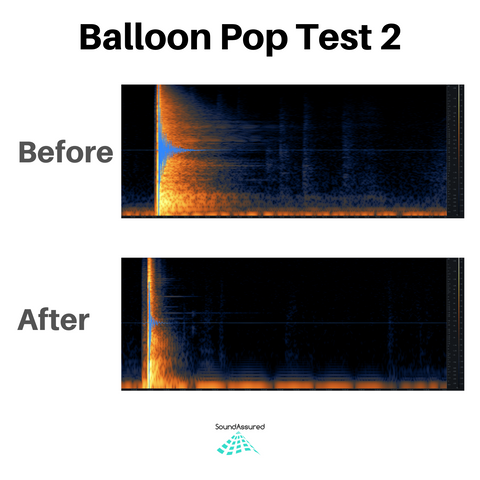 balloon pop test 2 - vocal booth acoustic treatment