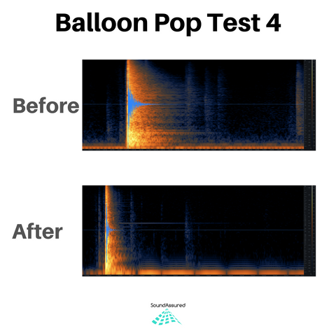 balloon pop test 4 - vocal booth acoustic treatment
