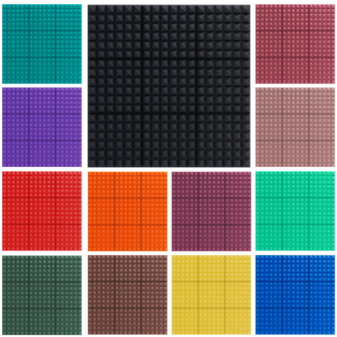 acoustic foam color options - pyramid style design