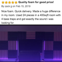 soundproofing acoustic foam customer review