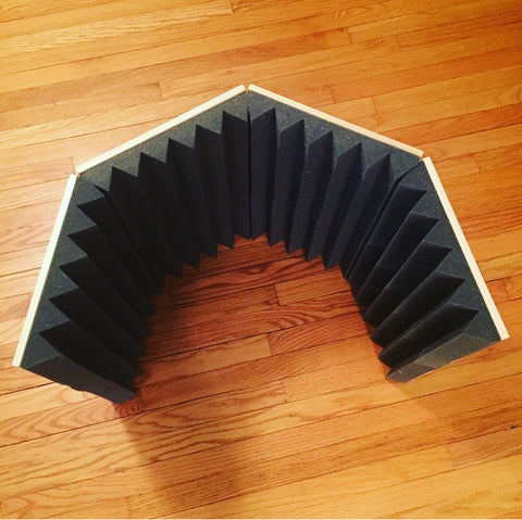 portable vocal isolation booth top