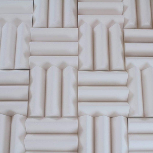 three inch thick white acoustic foam wedges