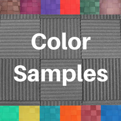 Acoustic Foam Color Sample Pieces - 13 Colors