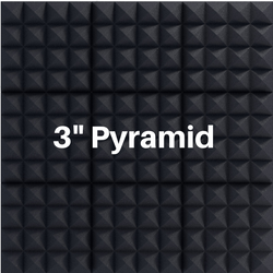 3 Inch Acoustic Foam Pyramid Style Panels - 13 Colors