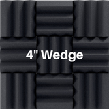 4 Inch Acoustic Foam Wedge Style Panels - 13 Colors