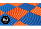 1 Inch Acoustic Foam Wedge Style Panels - 13 Colors