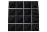 black acoustic diffuser panel for sound diffusion