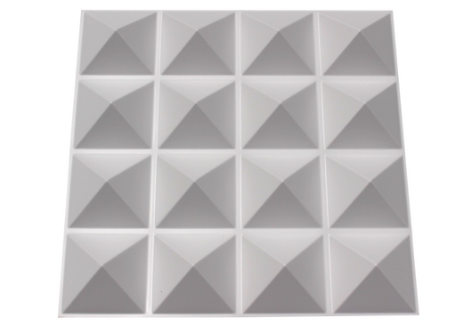 Acoustic Diffuser - PVC Sound Diffusion Panel - 4 Pack