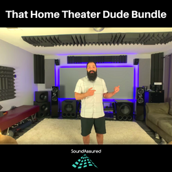 home theater soundproofing setup with acoustic foam