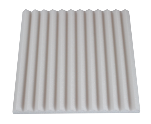 1 inch thick white acoustic foam wedges