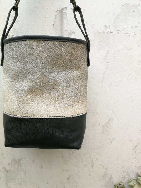 Upcycled Speckled Black Tote