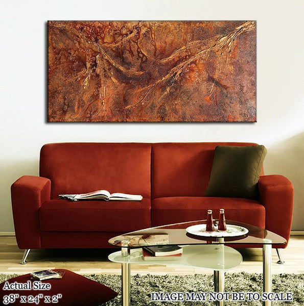 Modern Wall Art, Original Abstract Painting, Original Textured Metallic Abstract Art - New Wave Art Gallery
