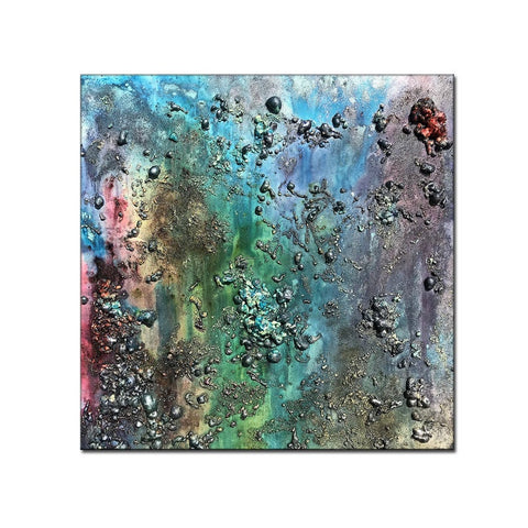 Abstract Painting, Textured Metallic Colorful Wall Art Painting Large Painting on Canvas - New Wave Art Gallery