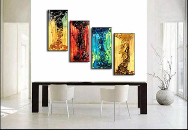 Original Textured Abstract Painting, Colorful Abstract Art , Modern Fine Art - New Wave Art Gallery