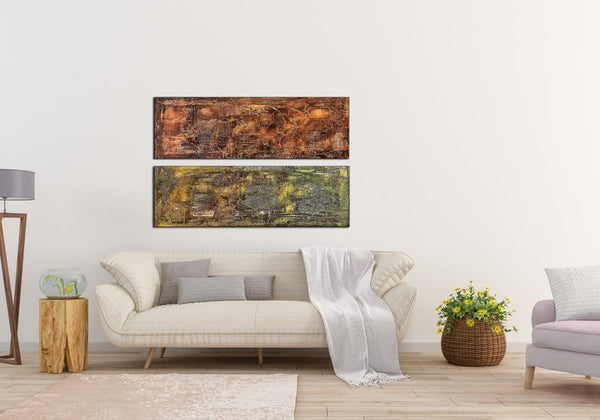 Original Abstract Painting, Textured Wall Art Painting Contemporary Brown Green Art, Abstract Art , Modern Fine Art - New Wave Art Gallery