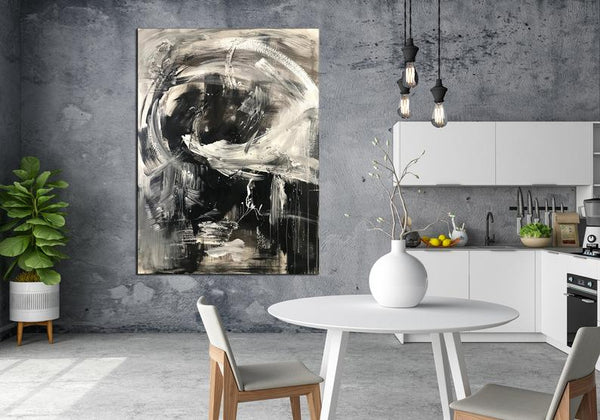 Original Black And White Abstract Painting, Wall Art Painting Contemporary Art, Abstract Art , Modern Fine Art - New Wave Art Gallery
