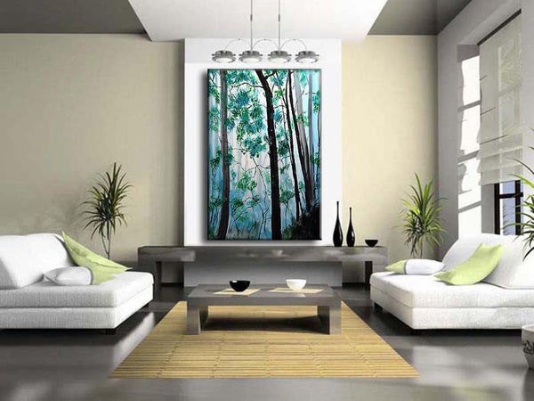 Abstract Painting, Large Abstract Art on Canvas, Landscape Painting - New Wave Art Gallery