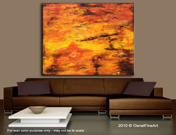 Modern Large Textured Abstract Painting Contemporary Canvas Art by Henry Parsinia Large 36x48 - New Wave Art Gallery