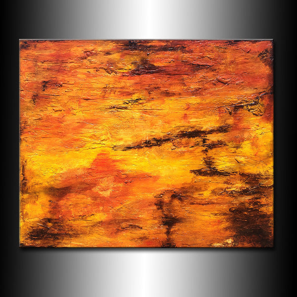 Modern Large Textured Abstract Painting Contemporary Canvas Art by Henry Parsinia Large 58x48 - New Wave Art Gallery