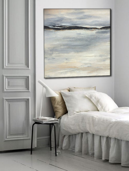 Original Seascape Gallery canvas art Home interior Design Painting by Henry Parsinia 30x30 - New Wave Art Gallery