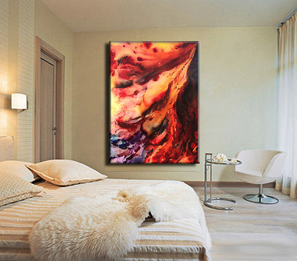 "ORIGINAL Painting 48"" x 36"" Abstract Contemporary Art Painting by Henry Parsinia Ready to hang Enormous - New Wave Art Gallery"