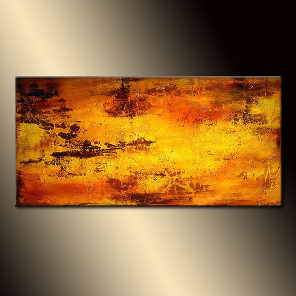 ORIGINAL Abstract Painting Contemporary  Art by Henry Parsinia Large 48x24 - New Wave Art Gallery