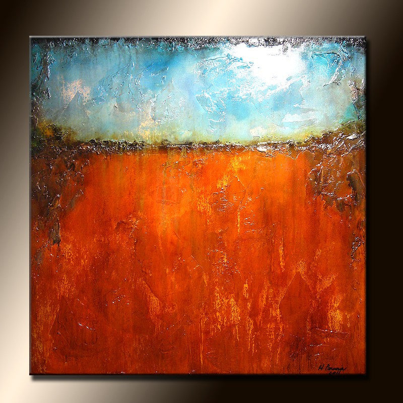 original modern abstract painting contemporary fine art by Henry Parsinia 36x36 - New Wave Art Gallery