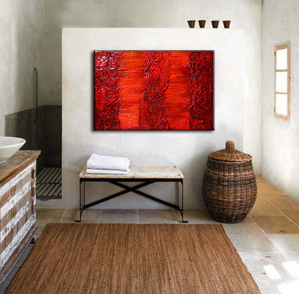 Original Rich Textured  Abstract Painting by Henry Parsinia large 36x24 - New Wave Art Gallery