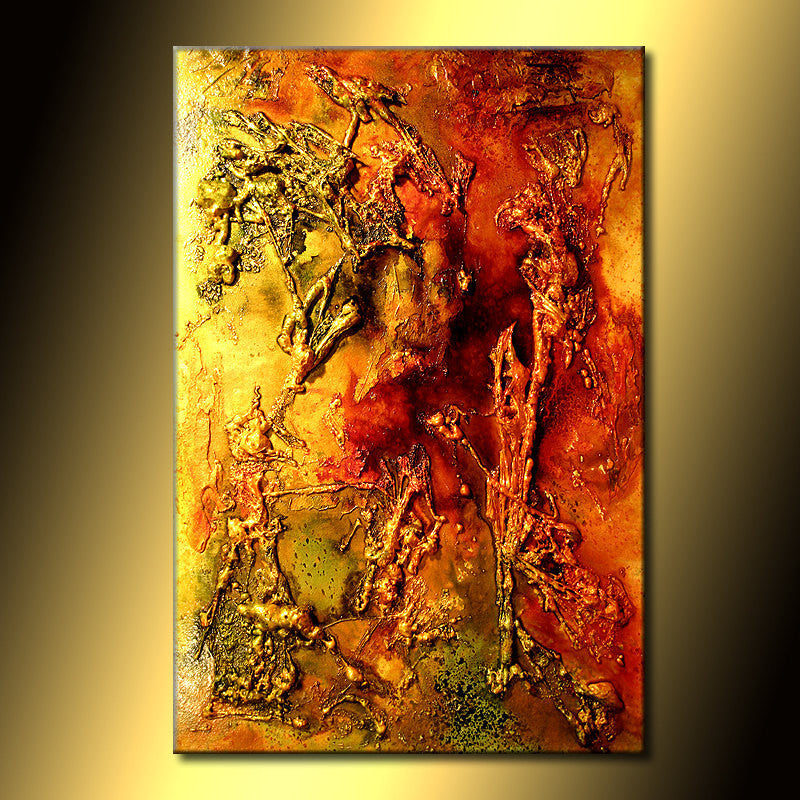Canvas Art Painting Original Art, Modern Art, Texture Art, Metallic ...