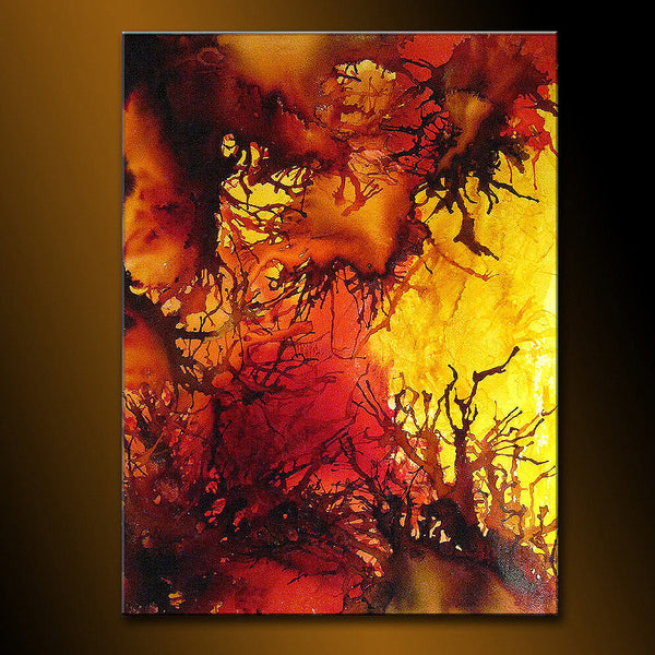 Original Contemporary Modern Colorful Canvas Art, by Henry Parsinia 48x36 - New Wave Art Gallery