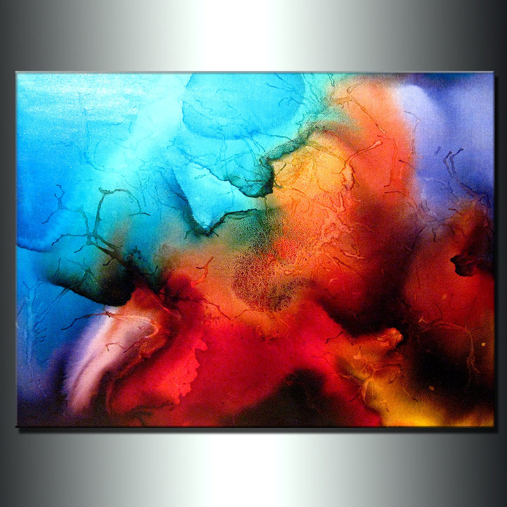 Original Abstract painting Contemporary Modern Colorful Canvas Art by Henry Parsinia 48x36 - New Wave Art Gallery