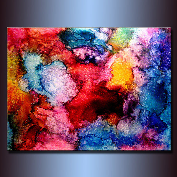 Abstract Art,X Large Abstract Painting,Original Abstract painting, Contemporary Modern Fine Art,Colorful Canvas Art,by Henry Parsinia 48x36 - New Wave Art Gallery