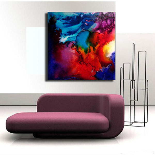 Abstract Art,Huge Abstract Painting, Original Abstract painting, Contemporary Modern Fine Art, Colorful Canvas Art, by Henry Parsinia 36x36 - New Wave Art Gallery