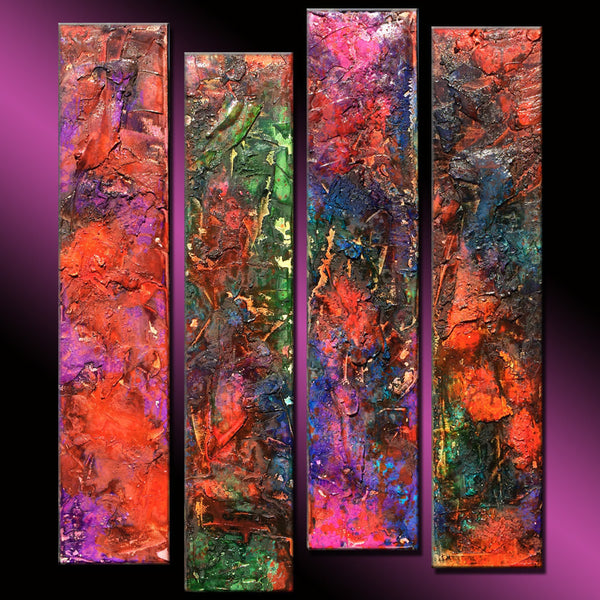 Original Textured Modern Large Abstract Thick Texture Gallery Canvas Painting Contemporary Fine Art By Henry Parsinia 36x32 - New Wave Art Gallery